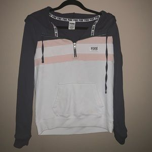 Vs PINK quarter zip pullover size small